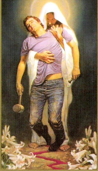 Jesus carries